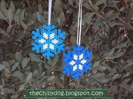 Easy Beaded Christmas Ornaments - perler beads snowflake ornament the chilly dog