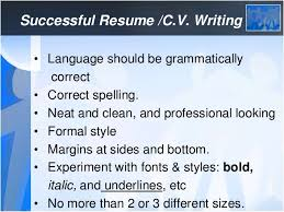 how to write an effective c v
