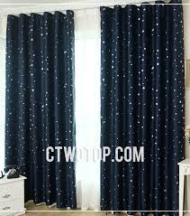 Blackout Navy Curtains Navy Printed Room Blackout Curtains
