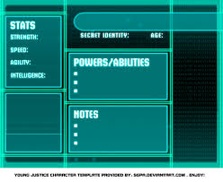 young justice bios template by meibatsu on deviantart
