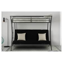 metropolis twin over futon bunk bed silver dorel home products