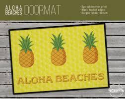 Pineapple Outdoor Rug Pineapple Doormat Etsy