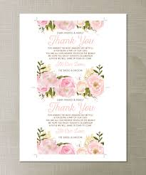 creative union u2014 pink floral printable wedding thank you place cards