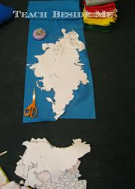 c is for continent felt board geography projects a z teach