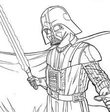Darth Vader Coloring Pages Star Wars Printable Hellokids Picture Darth Vader Coloring Pages