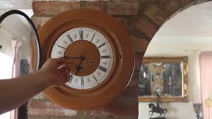 Unusual Wall Clocks by Vintage Unusual U0027smiths U0027 Light Oak 8 Day Wall Clock With