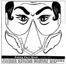 paper halloween mask mostly paper dolls funny face mask
