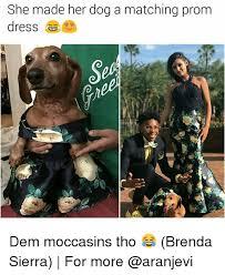 Brenda Memes - she made her dog a matching prom dem moccasins tho brenda