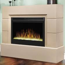 dimplex mason cast concrete 53 inch electric fireplace with glass