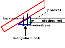 installing a closet bar on an angled wall building