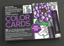 chameleon 16 piece nature color cards white 4