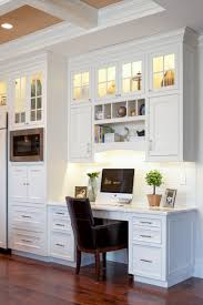 desk in kitchen design ideas suburban single family remodel traditional home office