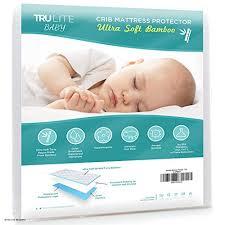 Hypoallergenic Crib Mattress Baby Crib Mattress Protector Pad The Softest Bamboo Rayon Fiber