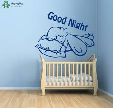 high quality baby wall decals quotes promotion shop for high sleeping baby wall decal quotes good night removable vinyl wall stickers for kids room nursery bed child home decor diy artsy343
