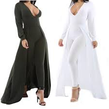fitted jumpsuit plunging neck flare cape jumpsuit addicted2fashion