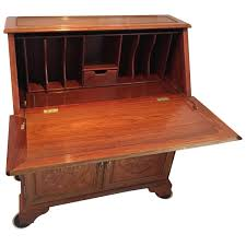 rosewood asian writing desk with drop down front for sale at 1stdibs