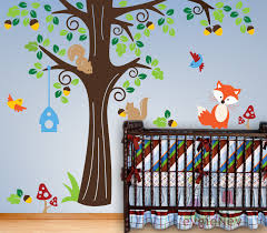 Removable Wall Decals For Nursery Animals In The Woods Wall Stickers Removable Wall Vinyl Decals For
