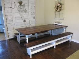 bench style dining room tables tags adorable farmhouse kitchen