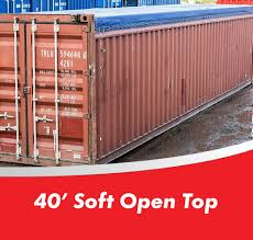 40 foot open top standard height shipping containers new