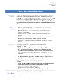 Extensive Resume Sample by Agricultural Engineer Resume Samples Templates And Job Descriptions