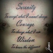 serenity prayer tattoo i like the heart it works well with it