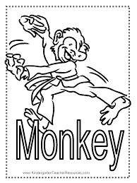 printable monkey coloring pages monkey worksheets and coloring pages