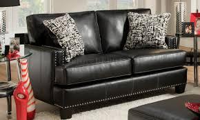 Bonded Leather Sofa Kimberly Black Bonded Leather Sofa Chelsea Home Furniture