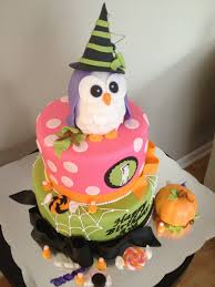owl halloween 1st birthday cake sassy but sweet by edith