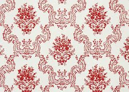 1950s vintage wallpaper by the yard red and white victorian