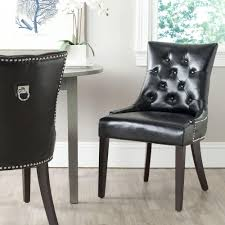 safavieh harlow black bicast leather side chair set of 2