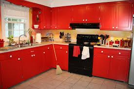 Red Colour Kitchen - kitchen staggering red kitchen cabinet ideas n red kitchen