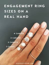 different engagement rings engagement ring diamond size a side side carat comparison of