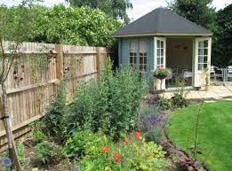 nice modern design of the garden summer house shed that has green