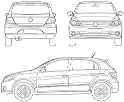 volkswagen hatchback 2009 2009 volkswagen golf hatchback blueprints free outlines