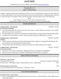 click here to this office administration resume template