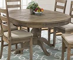 oval dining room tables amazon com round to oval dining table in brown tables