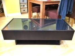 Glass Display Coffee Table Coffee Table With Glass Display Display End Table
