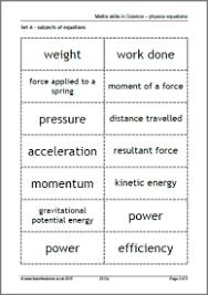 maths skills in science physics equations maths skills
