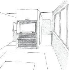 cuisine en perspective chambre en perspective frontale cuisine with cuisine