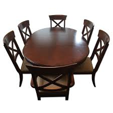 macy s extendable walnut dining table w 6 chairs aptdeco macy s extendable walnut dining table w 6 chairs