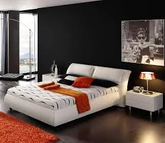 cool image of black and white cool bedroom for guys decoration
