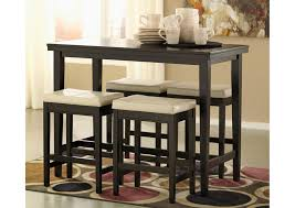 Kimonte Rectangular Counter Height Table W  Ivory Barstools Is - Hyland counter height dining room table with 4 24 barstools