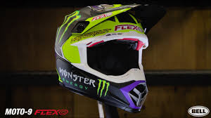 monster motocross helmets bell helmets moto 9 flex monster pro circuit 17 replica youtube