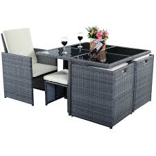 Rattan Garden Furniture 9 Pcs Cushioned Dining Table Rattan Furniture Set Outdoor