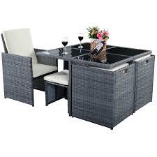 Garden Furniture Set 9 Pcs Cushioned Dining Table Rattan Furniture Set Outdoor