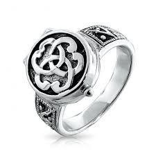celtic knot ring sterling silver triquetra celtic knot poison locket ring