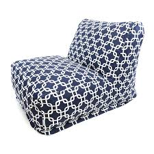 Outdoor Bag Chairs Shop Majestic Home Goods Navy Blue Bean Bag Chair At Lowes Com