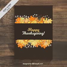 leaves on a black poster for thanksgiving day vector free
