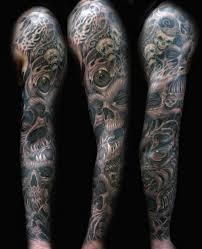 skull arm sleeve tattoos on mens ideas for for