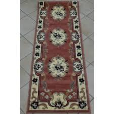 tappeto guida tappeto passatoia guida classica garden colore rosa larga cm 70